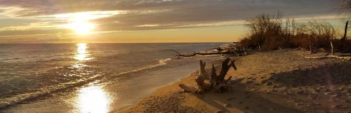 Sunrise Beach Lake Michigan