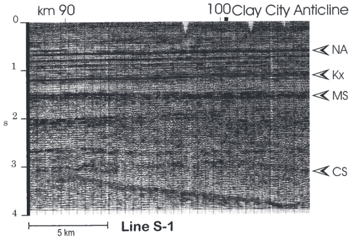 Seismic Reflection Profile reaching the Precambrian