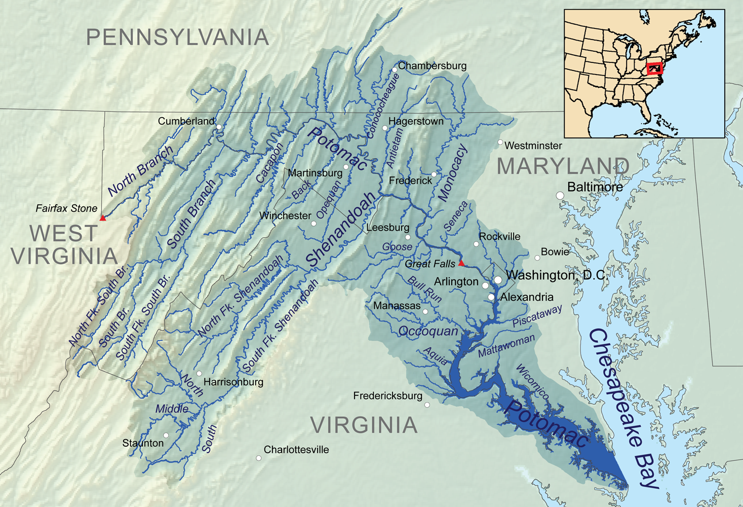 Potomacwatershedmap